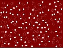 As estrelas brancas na planície vermelha do fundo limpam a ilustração do vetor Foto de Stock Royalty Free