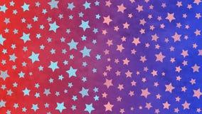 As estrelas brilhantes modelam no fundo azul e vermelho do Grunge ilustração do vetor