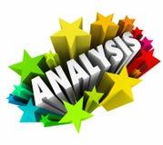 As estrelas da palavra 3d da análise analisam a informação de dados do significado ilustração royalty free