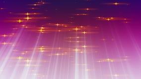 As estrelas das part?culas com raios iluminam o fundo dado la?os ilustração royalty free