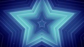 As estrelas de incandescência azuis 3d rendem Fotos de Stock Royalty Free