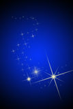 As estrelas do céu nocturno e do brihgt Ilustração do Vetor
