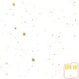 As estrelas douradas estão caindo para baixo Ilustração do vetor Foto de Stock