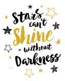 As estrelas enlatam o brilho do ` t sem escuridão Fotografia de Stock