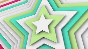 As estrelas multicoloridos 3d abstrato rendem Foto de Stock