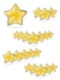 As estrelas recompensam o jogo ilustração do vetor