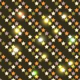 As estrelas sem emenda brilhantes de ano novo Imagens de Stock Royalty Free