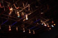 As estruturas do estágio iluminam o equipamento Imagem de Stock Royalty Free