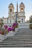 As etapas do espanhol em Roma, Italy Foto de Stock Royalty Free