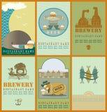 As etiquetas da cerveja com tambor do carvalho Fotografia de Stock
