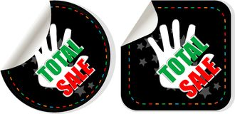 As etiquetas da coleção da venda ajustadas - totalize a venda Imagem de Stock