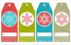 As etiquetas do Natal do vintage com venda oferecem, vector Imagem de Stock Royalty Free