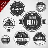Etiquetas superiores da qualidade com projeto retro do vintage ilustração stock