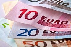 Euro- cédulas Imagem de Stock