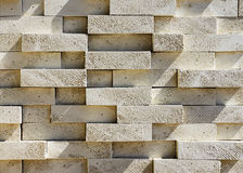 As extremidades de feixes de madeira pintaram o branco (o projeto da fachada) Fotografia de Stock