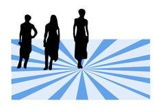 As fêmeas em colorido bckground-verific a carteira imagens similares Imagem de Stock