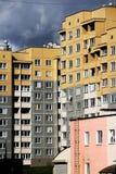 As fachadas das casas. Foto de Stock