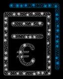 2.as facturas euro de la malla brillante con los puntos ligeros stock de ilustración
