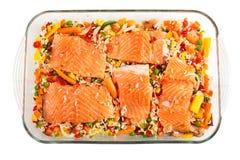 As faixas Salmon com decoram Imagem de Stock