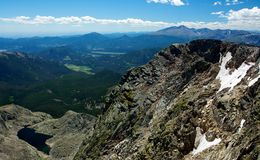 As Far as the Eye Can See. Mount Ypsilon, Rocky mountain national park, colorado Royalty Free Stock Images