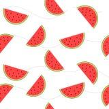 As fatias da imagem de melancia com sementes Foto de Stock Royalty Free