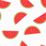 As fatias da imagem de melancia com sementes Fotos de Stock