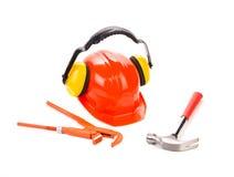 As ferramentas da construção fecham-se acima Imagens de Stock Royalty Free