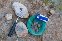 As ferramentas do Prospector Fotografia de Stock Royalty Free