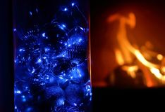 As festões azuis rangem fotos de stock