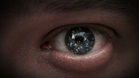 The figures in the eyes. equation Stock Footage
