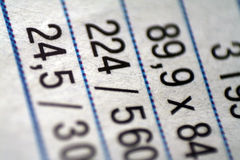 As figuras tabelam a finança do cliente Fotografia de Stock Royalty Free
