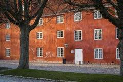 As fileiras, Kastellet, Copenhaga, Dinamarca fotos de stock royalty free