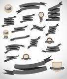 As fitas e a etiqueta retros ajustadas vector a ilustração Fotografia de Stock Royalty Free