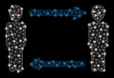 2.as flechas extranjeras del intercambio de la malla brillante con los puntos ligeros libre illustration