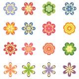 As flores ajustaram-se Imagens de Stock