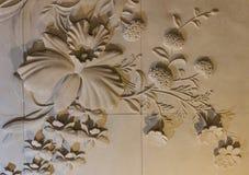 As flores cinzelaram o arenito Fotografia de Stock