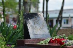 As flores colocadas ao monumento em honra de Victory Day o 9 de maio Fotos de Stock