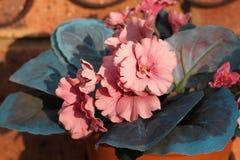 As flores falsificadas fazem uma casa Imagem de Stock Royalty Free