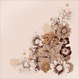 As flores moldam para cartão ilustração do vetor