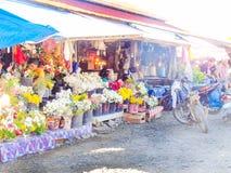 As flores param em Santo Tomas Public Market, Santo Tomas, Davao, Fotografia de Stock