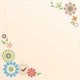 As flores personalizaram artigos de papelaria Fotografia de Stock