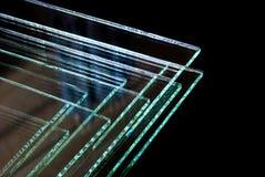 As folhas dos painéis claros moderados fabricação do vidro de flutuador da fábrica cortaram para fazer sob medida fotografia de stock