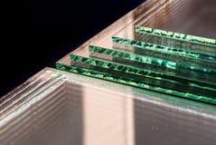 As folhas dos painéis claros moderados fabricação do vidro de flutuador da fábrica cortaram para fazer sob medida imagem de stock royalty free