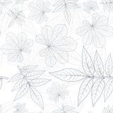 As folhas mostram em silhueta o teste padrão sem emenda Imagens de Stock Royalty Free