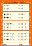As folhas Perceptual visuais, seguem o trajeto, copiam o teste padrão Imagem de Stock Royalty Free