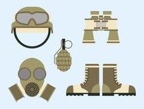 As forças ajustadas da armadura militar dos símbolos da munição da arma projetam e vetor americano do sinal da camuflagem da mari ilustração stock