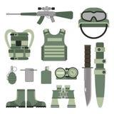 As forças ajustadas da armadura militar dos símbolos das armas da arma projetam e vetor americano do sinal da camuflagem da marin ilustração royalty free