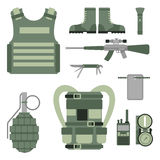 As forças ajustadas da armadura militar dos símbolos das armas da arma projetam e vetor americano do sinal da camuflagem da marin ilustração do vetor