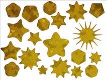 As forças armadas amarelas do deserto camuflam etiquetas da estrela ilustração stock