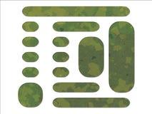 As forças armadas britânicas do estilo da selva verde DPM camuflam Fotografia de Stock